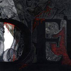Deus Sex Machina no. 5 / Ink on canvas / 80x80 cm