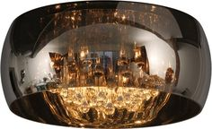 Plafoniera Soffitto E27 : Lampada da soffitto luci perenz cromo paralume in tessuto