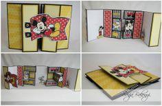 Double tri-shutter card using Mickey and Friends Cricut Cartridge Sugar Bean Cards