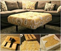 Pallet Furniture Projects DIY Pallet Ottoman-DIY Pallet Home Decorating and Furniture Projects and Tutorials - DIY Pallet Home Decorating and Furniture Projects and Tutorials Round Up: DIY Pallet Coffee Table, Pallet Bed, Lounge and Smart Furniture, Furniture Projects, Furniture Makeover, Home Furniture, Antique Furniture, Rustic Furniture, Repurposed Furniture, Outdoor Furniture, Furniture Design