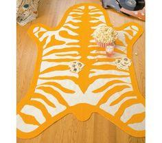 DIY Felt Zebra Rug For The Kids Room.
