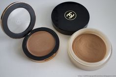 Sonia Kashuk (Warm Tan) and Chanel Soleil Tan De Chanel cream bronzers: Sonia Kashuk is supposed to be a dupe/drugstore version of the Chanel, you can see for yourself for the color.