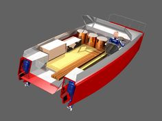 Plywood Power Catamarans   Lunada Design Power Catamaran, Shanty Boat, Boat Stuff, Floating House, Boater, Boat Plans, Wooden Boats, Boat Building, Plywood