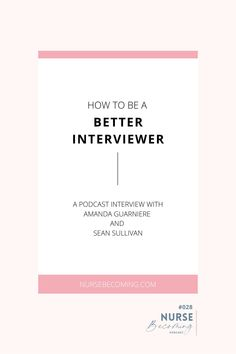 How do you prepare for an interview? Personally, I plan out my answers to the most commonly-asked questions, and by the time the interview comes around, I'm rehearsed enough to know what to say and relaxed enough to look natural saying it. But Sean Sullivan, who is an improv actor and my guest in this episode, said it's really not all in the planning. I know, I know, I clutched my pearls too! But he may be onto something... Dumb Questions, This Or That Questions, Sean Sullivan, Interview Skills, New Nurse, Career Exploration, Interview Preparation, Twin Mom, Good Listener