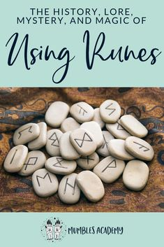 """Curious about using the runes? Imagine if the secret of the runes was revealed. The word """"Rune"""" literally means """"secret"""" and this guide is set up to help you learn how to use these mysterious symbols for divination and magical purposes. Wiccan Runes, Norse Runes, Wicca Witchcraft, Pagan Witch, Viking Symbols, Viking Runes, Rune Divination, Mayan Symbols, Egyptian Symbols"""