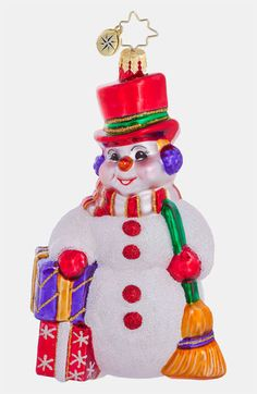 Christopher Radko 'Snowman' Ornament available at #Nordstrom
