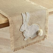 Burlap Bunny Tail Table Runners