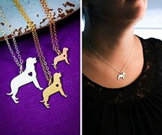 Rottweiler Dog Necklace - Rott Rottie - IBD - Personalize with Name or Date - Choose Chain Length - Pendant Size Options - Sterling Silver 14K Rose Gold Filled Charm - Ships in 2 Business Days >>> More infor at the link of image  : Handmade Gifts
