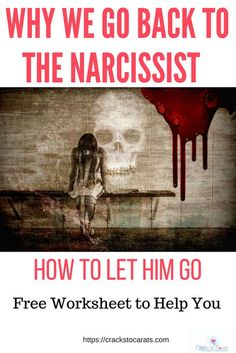 To understand how to let go of the narcissist we first must understand why we go back to the narcissist. There are many reasons we go back to the narcissist and recognizing these will help us let go of that toxic relationship with the narcissist.