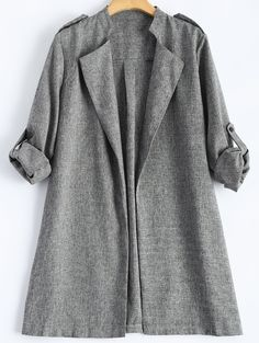Rolled Cuff Sleeve Plus Size Coat and other apparel, accessories and trends. Browse and shop 8 related looks. Cute Clothes For Women, Coats For Women, Jackets For Women, Plus Size Outerwear, Plus Size Coats, Plus Size Trench Coat, Trench Coats, Plus Size Swimwear, Cuff Sleeves