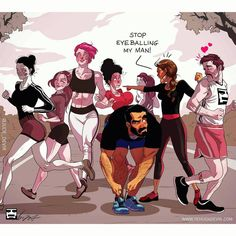 Yehuda Devir is a comic artist who describes married life in a humorous, authentic and identifying way. His illustrations are the most interesting. Cute Couple Comics, Couples Comics, Couple Cartoon, Funny Couples, Bd Comics, Funny Comics, Marvel Comics, Humour Couple, Yehuda Devir