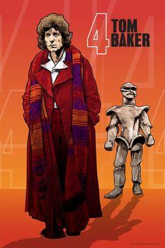 "Doctor Who - Tom Baker and the Melkur - 18 x 12"" Digital Print. $8.99, via Etsy."