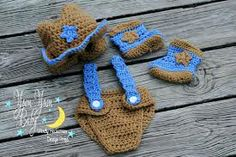 Cowgirl Outfit Cowgirl Hat Vest Skirt Booties Crochet