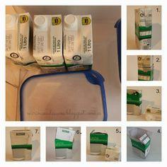 Botes de congelación con botes de leche Ideas Prácticas, E 7, Budget, Dose, Kitchen Hacks, Tricks, Freezer, Recycling, Projects To Try