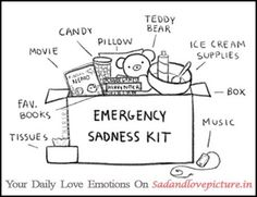 Emergency Sadness kit   Sad and Love Picture
