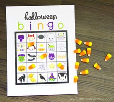 Free Printable Halloween Bingo at artsyfartsymama.com