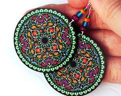 mosaic style earrings