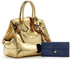 Ralph Lauren's Soft Ricky Bag Gets A Gorgeous Gold Version