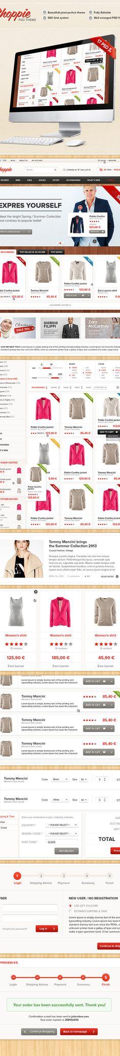 Shoppie - Modern Online Store Web by Viktor Karvai, via Behance