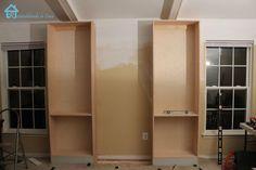 DIY Furniture : DIY  Building Bookcases for Bedroom