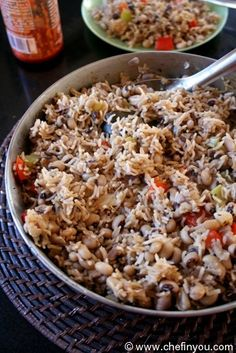 Lobia Pulao recipe |  Black eyed peas and Rice recipe - can easily be done w/out using the oil