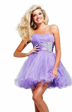 Moonar® Chiffon Lovely Straight Across Strapless Prom Gown Homecoming Dress at Amazon Women's Clothing store