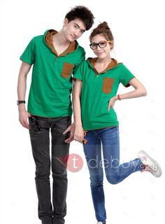 Glamour Korean Style Short Sleeve Hooded Couple Outfits, #Clothing  #Couple Outfits  #MarketPricde $79.00  But now Only $19.99