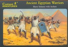 CAESAR #47. EGYPTIAN HEAVY INFANTRY. 1/72 Scale Figs.