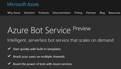The Service was the 1st public Cloud bot-service powered by the Microsoft Bot Framework & serverless compute in Microsoft Azure.