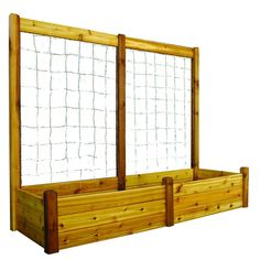 Gronomics 34 in. x 95 in. x 19 in. Raised Garden Bed with 95 in. W x 80 in. H Trellis Kit-RGBT TK – The Home Depot 34 in. x 95 in. x 19 in. Raised Garden Bed with 95 in. W x 80 in. H Trellis Kit Cedar Raised Garden Beds, Building A Raised Garden, Raised Beds, Cedar Garden, Raised Planter, Planter Beds, Raised Gardens, Gravel Garden, Home Depot