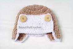 Mützen - Babymütze gehäkelt Aviator - ein Designerstück von BeautifulCrochet bei DaWanda