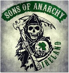 Sons of Anarchy Ireland, Love It (: bought my hun a shirt like this