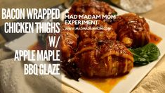 So, sometimes you just do not want to go to the grocery store- so you scavenge, raid, and invent.  This is what I did.  I used what I had and went with it.  It came out delicious. There are a few things I would do differently, which I've included, but this was yummy.  #madmadammom #baconwrappedchicken #applemaplebbq #instantpot #instantpotrecipes #foodexperiments