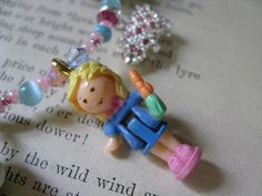 Polly and Her Pet Pigs a StoryCharm Necklace by FallingChandelier, $42.00