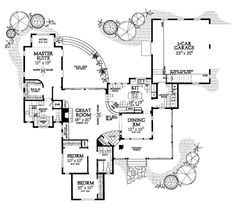 Country Floor Plan - Main Floor Plan Plan #72-122