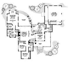 Country Floor Plan - Main Floor Plan Plan #72-122