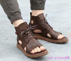 Roman Sandals, Gladiator Sandals, Shoes Sandals, Leather Slippers, Leather Boots, Leather Sandals For Men, Leather Fashion, Fashion Shoes, Emo Fashion