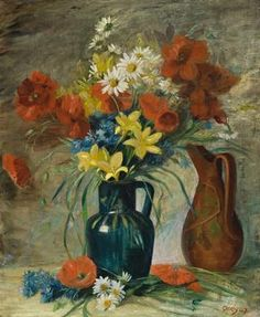 Find artworks by Margaret Olley (Australian, 1923 - on MutualArt and find more works from galleries, museums and auction houses worldwide. Australian Painting, Australian Artists, Red Vases, Spring Flowers, Masters, Daisy, Paintings, Contemporary, Artwork