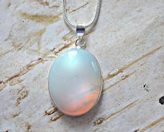 Your place to buy and sell all things handmade Australian Opal, Gemstone Colors, White Style, Sterling Silver Chains, Gemstone Jewelry, Etsy Shop, Pendant Necklace, Gemstones, Rings