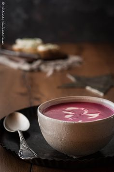 Rote Beete Rahmsuppe - genau das richtige für kalte Wintertage