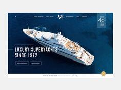Luxury Superyachts by Iñaki Soria - Dribbble Website Design Layout, Web Layout, Website Design Inspiration, Layout Inspiration, Best Ui Design, Design Web, Sailboat Plans, Free Boat Plans, Interior Design Sketches