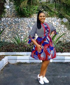 Latest Ankara Short Flare Gown African Inspired Fashion, African Print Fashion, African Fashion Dresses, African Dress, Ankara Fashion, African Prints, African Style, African Beauty, African Outfits