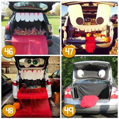 Seriously LOVE these trunk-or-treat ideas!!!  Now the question- which one should I pick?!