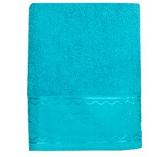 5/25/2012  $9.99  + FREE SHIPPING Solid Jacquard Dolphin Embroidery 100% Cotton Turquoise Beach Towel