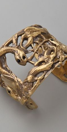 Alkemie Jewelry | Snake & Vines Cuff #snakes