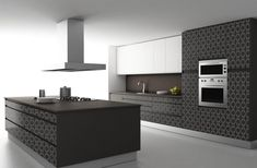 104 veces he visto estas bellas cocinas modernas. Black Kitchens, Luxury Kitchens, Home Kitchens, Modern Kitchens, Small Kitchens, Modern Kitchen Design, Interior Design Kitchen, Ikea Interior, Open Plan Kitchen