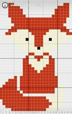 Terrific Totally Free Cross Stitch fox Popular Ideas crochet animals fox cross stitch for 2019 Tiny Cross Stitch, Simple Cross Stitch, Cross Stitch Animals, Cross Stitch Charts, Cross Stitch Designs, Counted Cross Stitch Patterns, Cross Stitch Patterns Free Easy, Crochet Pixel, Crochet Cross