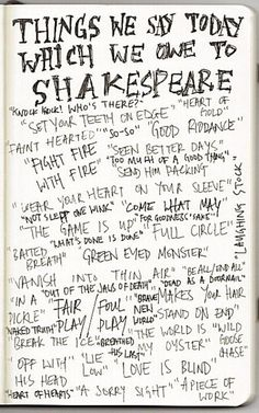 Shakespeare references...(Not really age appropriate for an Elementary teacher, but ya never know!)
