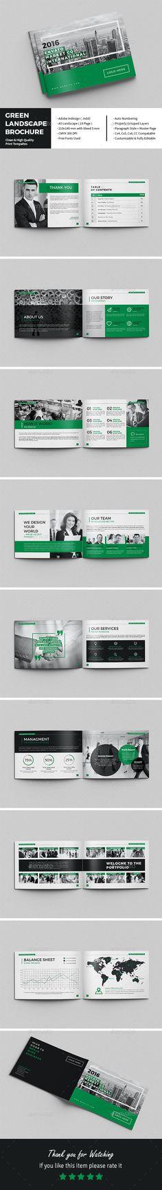 Landscape Multi Purpose Brochure Indesign Templates Brochures And