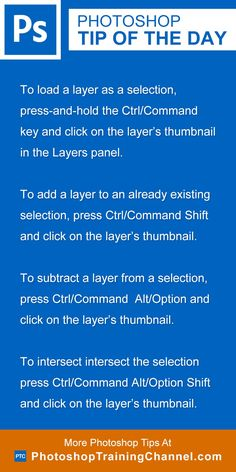To load a layer as a selection, press-and-hold the Ctrl (Mac: Command) key and…